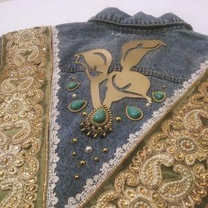 2LBG Custom Faith Over Fear Denim Jacket